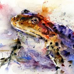 FROG Watercolor Print by Dean Crouser by DeanCrouserArt on Etsy, $25.00