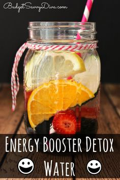 Recipe VERY simple to make - and it TASTES great. I even love it more than soda! #recipe #infused #water #exercise #detox #easydetox #energydrink #energy #energywater #budgetsavvydiva via budgetsavvydiva.com - Energy Boost Detox Water Recipe