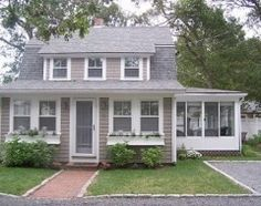 Cape cod house ideas on pinterest capes front porches for Cape cod dormer addition