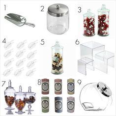 chip, candy jars buffet, candy buffet, metal, buffet suppli, glass, buffet item, candi buffet, candi bar