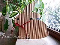 Sitting Bunny card pattern