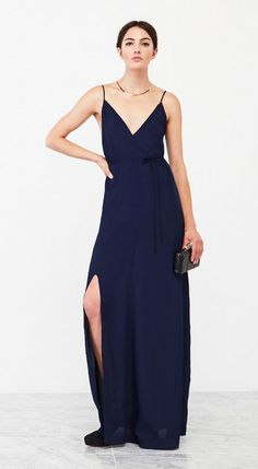 This Reformation bridesmaid dress has an amaaazing deep V back, but is still super comfy + chic
