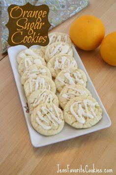 Orange Sugar Cookies via @JenSto2t