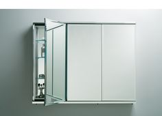 Robern  1 of 3 manufacturers of 60 inch medicine cabinets.    Three-door Flat Beveled Mirrored Cabinets