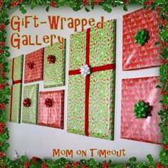 Gift Wrapped Gallery- wrap your picture frames around the hosue-I am doing it