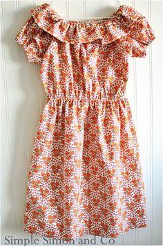 ruffled peasant dress tutorial
