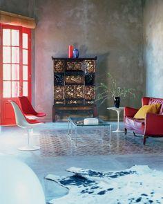 Tile #rug. Image via Karina Tengberg / House of Pictures
