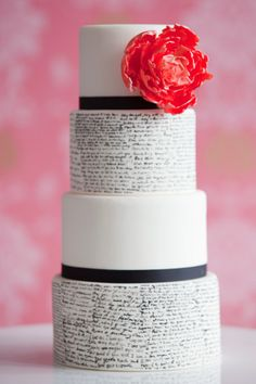 Hand-painted #wedding cake ideas: http://weddingandweddingflowers.co.uk/article/1183/hand-painted-wedding-cake-ideas