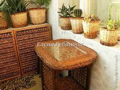 Газетные трубочки плетение столик