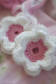 Crocheted flowers.