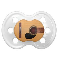 Acoustic Guitar Baby Pacifiers for my guitar theme baby shower.