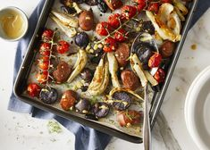Yves Veggie Sausage and Fennel Tray Bake is an easy weeknight dinner with a healthy twist.