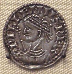 A coin with the profile of William the Conqueror, or William I of England on it.