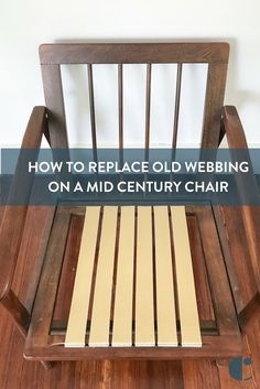 Replace Old Rubber Webbing Mid Century Chair