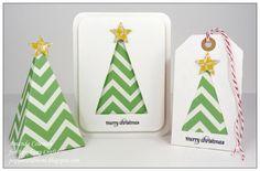 Christmas tree card, tag, and box using the Star tool.