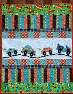 monster trucks, baby quilts, baby boy quilts, car quilt, fire trucks, boy rooms, baby boys, rubi design, little boys rooms