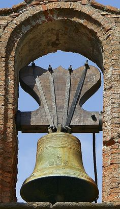 Church Bell Close up, Grimaud, Provence-Alpes-Cote d'Azure FR