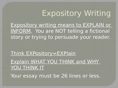 expository essay powerpoints