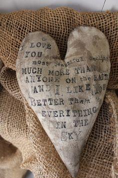A sweet heart..