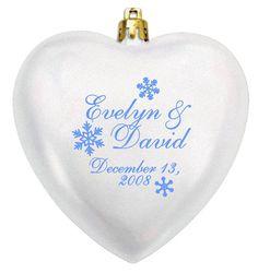 Heart personalized acrylic ornaments...shatterproof