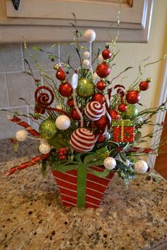 Festive Present Arrangement by kristenscreations on Etsy