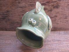 Green Fish Pottery Sponge Holder / North Carolina by TagawaPottery, $18.00