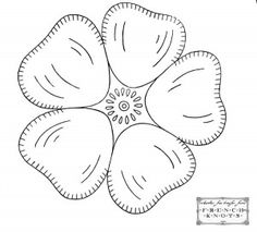 flower applique embroidery