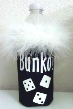 Bunko/Bunco water bottle or longneck bottle koozie by KoozieQ