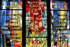 A Beautiful Alpha Kappa Alpha Sorority, Inc.Stained Glass Window #Greek #Sorority #History #AKA #AlphaKappaAlpha