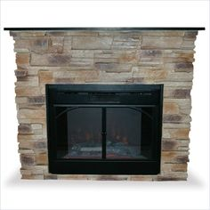 Indoor Free Standing Electric Fireplace with Black Marble Mantle