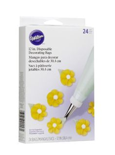 Wilton 2104-1358 Disposable 12-inch Decorating Bags, 24 Pack - List price: $6.79 Price: $5.33 Saving: $1.46 (22%)