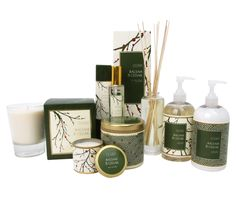 Illume Balsam and Cedar Products. $8.95-32.95 A comforting blend of fresh balsam and oak moss to enjoy the scents of the holiday season. Bibelot.  www.bibelotshops.com