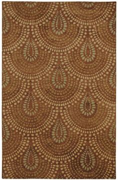 Bowden Scallop Rug in Spice from @wmbgbrand is a great way to add sophistication to your home! #CapelRugs