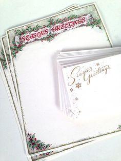 vintage Christmas stationery and envelope set by forrestinavintage on Etsy, $12.00
