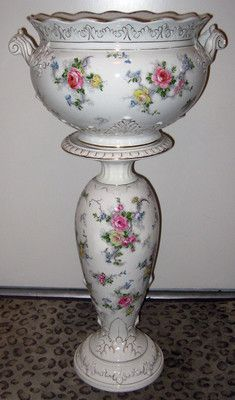 Antique 1913 Royal Winton Grimwades Jardiniere Pedestal Hampton Chintz Planter | eBay