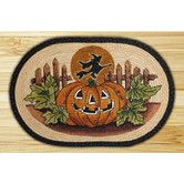 Found it at Wayfair - Jack O Lantern and Witch Novelty Rug