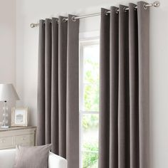 Waters and Noble Stone Solar Eyelet Curtain Collection   Dunelm