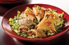Cheesy Black Bean Quesadilla Triangles Recipe. Happy Cinco de Mayo!