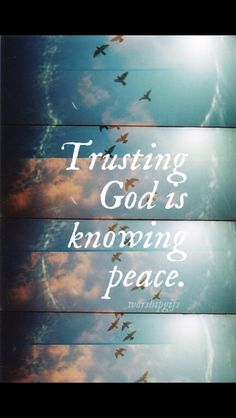 ❥ Know God, know peace