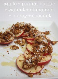 meg-made: Apple + Peanut Butter + Cinnamon + Walnuts + Honey + Coconut ...