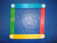 put velcro on popsicle sticks to create shapes and letters