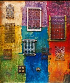 wall art, san jose, garden walls, facad, california, windows, flower, bright colors, santana row