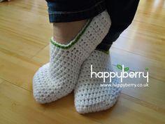 Happy Berry Crochet: How To - Crochet Simple Adult Slippers for Men or Women adult slipper