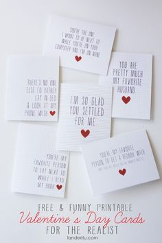 Printable Funny Valentine's Day Cards - Landee See Landee Do
