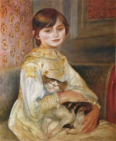 Julie Manet with Cat by Renoir
