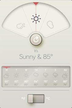 Beautiful Weather App // Apple