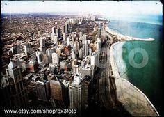 Chicago view - 5x7in metallic paper print. $14.00, via Etsy.