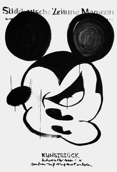 "For the exhibition ""unplugged"" | Designer: Mirko Borsche - http://mirkoborsche.com #illustration"