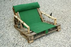 Pallet chair-with beer holder by ~Angel-Ronin