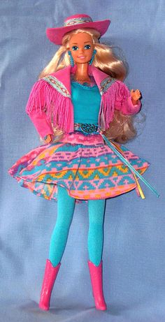 Barbie Western Fun 1989. HA! I had this same exact outfit for one of my dolls when I was younger.